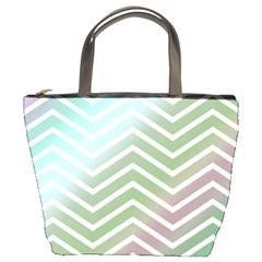 Ombre Zigzag 02 Bucket Bag