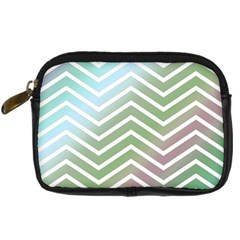 Ombre Zigzag 02 Digital Camera Leather Case