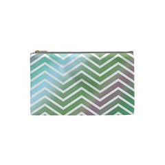Ombre Zigzag 02 Cosmetic Bag (small)