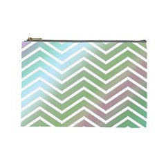 Ombre Zigzag 02 Cosmetic Bag (large)