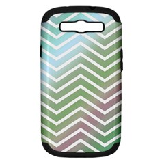 Ombre Zigzag 02 Samsung Galaxy S Iii Hardshell Case (pc+silicone)