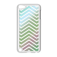 Ombre Zigzag 02 Apple Ipod Touch 5 Case (white)