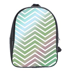 Ombre Zigzag 02 School Bag (xl)