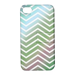 Ombre Zigzag 02 Apple Iphone 4/4s Hardshell Case With Stand