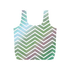 Ombre Zigzag 02 Full Print Recycle Bag (s)