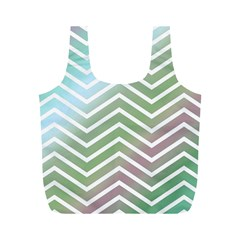 Ombre Zigzag 02 Full Print Recycle Bag (m)