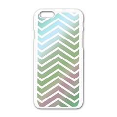 Ombre Zigzag 02 Apple Iphone 6/6s White Enamel Case
