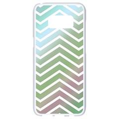 Ombre Zigzag 02 Samsung Galaxy S8 White Seamless Case