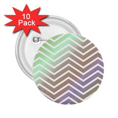 Ombre Zigzag 03 2 25  Buttons (10 Pack)