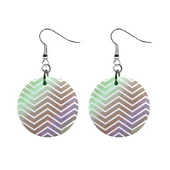 Ombre Zigzag 03 Mini Button Earrings