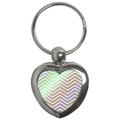 Ombre Zigzag 03 Key Chains (heart)