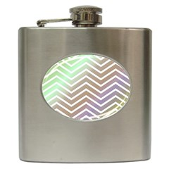 Ombre Zigzag 03 Hip Flask (6 Oz)