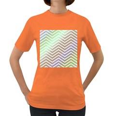 Ombre Zigzag 03 Women s Dark T Shirt