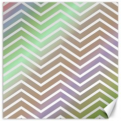Ombre Zigzag 03 Canvas 12  X 12