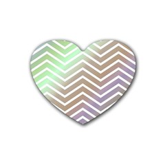 Ombre Zigzag 03 Heart Coaster (4 Pack)