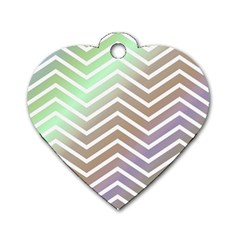 Ombre Zigzag 03 Dog Tag Heart (one Side)