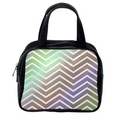 Ombre Zigzag 03 Classic Handbag (one Side)