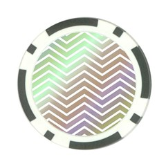 Ombre Zigzag 03 Poker Chip Card Guard (10 Pack)