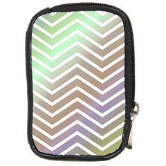 Ombre Zigzag 03 Compact Camera Leather Case