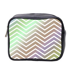 Ombre Zigzag 03 Mini Toiletries Bag (two Sides)
