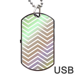 Ombre Zigzag 03 Dog Tag Usb Flash (one Side)