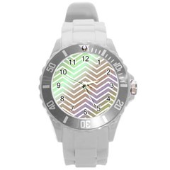 Ombre Zigzag 03 Round Plastic Sport Watch (l)