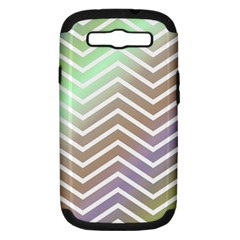 Ombre Zigzag 03 Samsung Galaxy S Iii Hardshell Case (pc+silicone)
