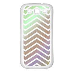 Ombre Zigzag 03 Samsung Galaxy S3 Back Case (white)