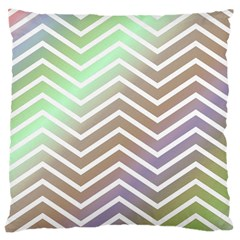 Ombre Zigzag 03 Large Flano Cushion Case (two Sides)