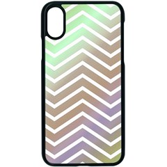 Ombre Zigzag 03 Apple Iphone X Seamless Case (black)