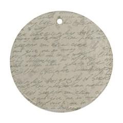 Handwritten Letter 2 Ornament (round)