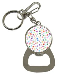 Colorful Abstract Symbols Bottle Opener Key Chains