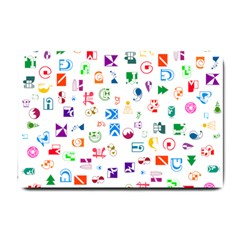 Colorful Abstract Symbols Small Doormat