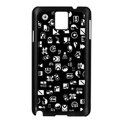 White On Black Abstract Symbols Samsung Galaxy Note 3 N9005 Case (black)