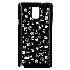 White On Black Abstract Symbols Samsung Galaxy Note 4 Case (black)