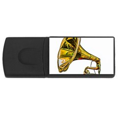 Vintage Gramophone Rectangular Usb Flash Drive