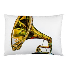 Vintage Gramophone Pillow Case (two Sides)