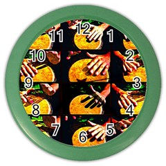 Drum Beat Collage Color Wall Clock