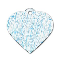 Let It Rain Dog Tag Heart (one Side)
