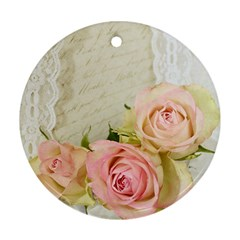 Roses 2218680 960 720 Round Ornament (two Sides)