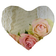 Roses 2218680 960 720 Large 19  Premium Heart Shape Cushions