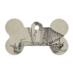 Ship 1515860 1280 Dog Tag Bone (two Sides)