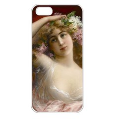 Victorian Lady In Pink Apple Iphone 5 Seamless Case (white)