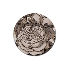 Flowers 1776630 1920 Rubber Round Coaster (4 Pack)