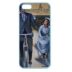 Couple On Bicycle Apple Seamless Iphone 5 Case (color)