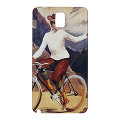 Woman On Bicycle Samsung Galaxy Note 3 N9005 Hardshell Back Case