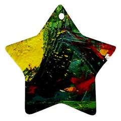 Yellow Chik 2 Star Ornament (two Sides)
