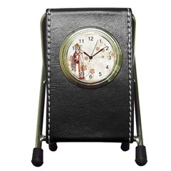 Background 1775358 1920 Pen Holder Desk Clock