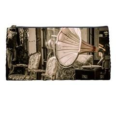 Flea Market Redord Player Pencil Cases by vintage2030