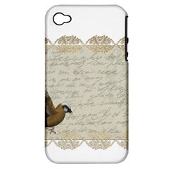 Tag Bird Apple Iphone 4/4s Hardshell Case (pc+silicone)